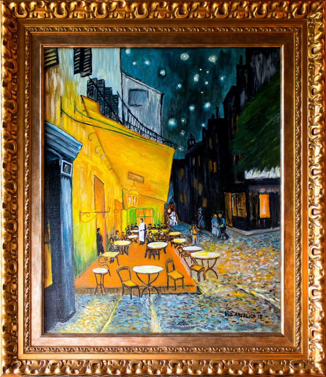 Terraza De Café Por La Noche Dell Angélica